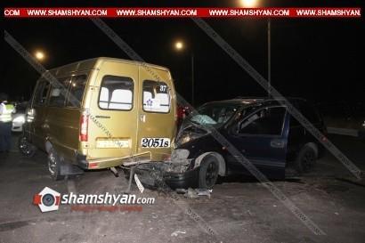 ՖՈՏՈՇԱՐՔ. Խոշոր ավտովթար Երևանում. Մարզահամերգային համալիրի մոտ բախվել են թիվ 37 երթուղին սպասարկող Газель-ը և Opel-ը. կան վիրավորներ