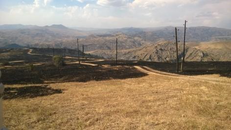 Արա լեռան լանջին 19 ծխացող օջախ կա