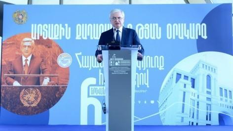 Է. Նալբանդյան.ԼՂ խնդրի հանգուցալուծումը պետք է Արցախի ժողովրդի անվտանգության ապահովման հստակ երաշխիքներ տա
