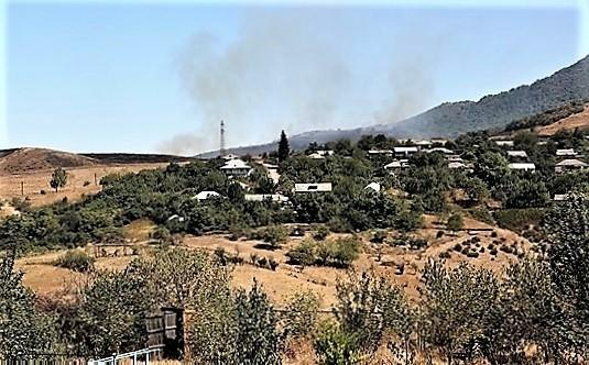 Գյուղի արոտավայրերը վառվել են Ադրբեջանի հետ սահմանում բռնկված հրդեհից. ՄԻՊ