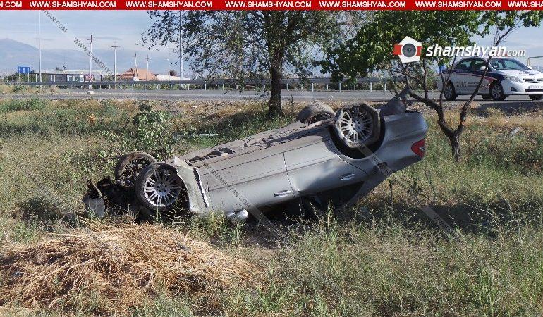 21-ամյա վարորդը Mercedes-ով մի քանի պտույտ շրջվելով՝ գլխիվայր հայտնվել է դաշտում