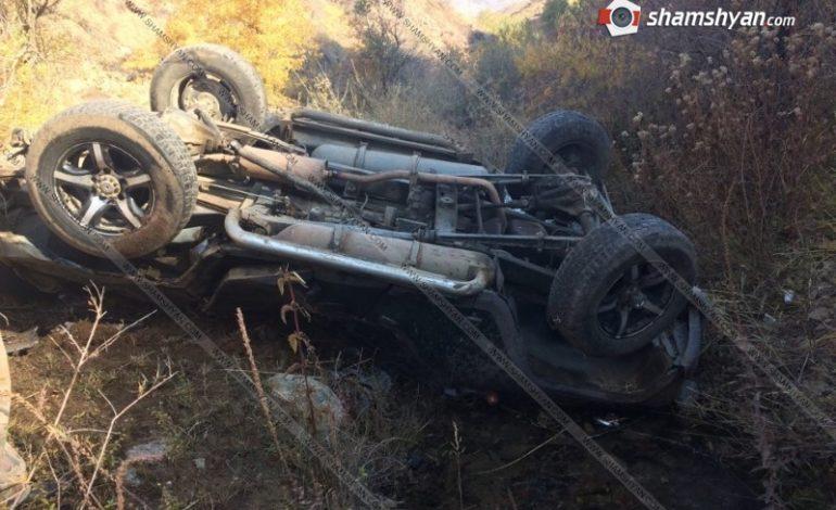 ՖՈՏՈ. Ողբերգական ավտովթար Վայոց Ձորի մարզում. 19-ամյա ժամկետային զինծառայողը է մահացել