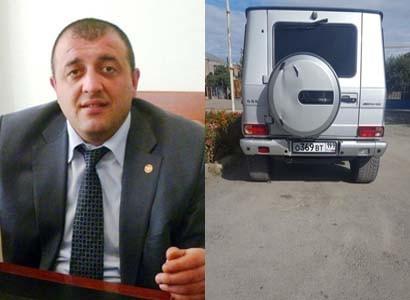 Այնթապ համայնքի ղեկավարի ավտոմեքենայի ռուսական համարանիշերն առգրավվել են