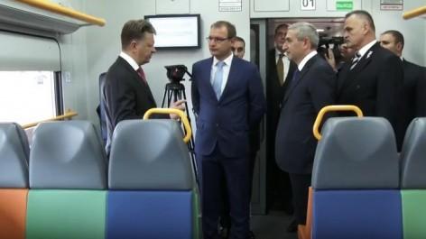 ՏԵՍԱՆՅՈՒԹ. Նոր էլեկտրագնացքի առաջին ուղևորները ՀՀ և ՌԴ տրանսպորտի նախարարներն էին