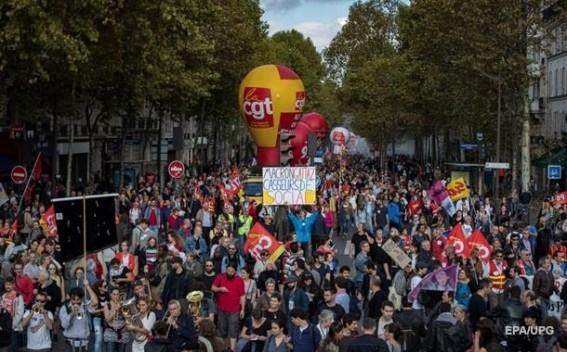 Մոտ 40 հազար ֆրանսիացի բողոքել է Մակրոնի նախաձեռնած աշխատանքային օրենսգրքի բարեփոխումների դեմ