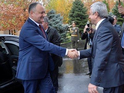 «Մենք արդյունավետ բանակցություններ ենք վարել». Սերժ Սարգսյանը հրաժեշտ տվեց Մոլդովայի նախագահին