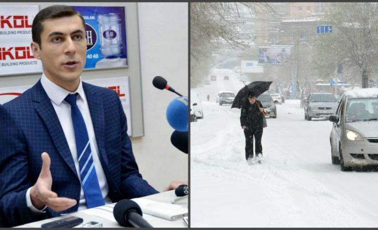 Երևանում -20 աստիճանանին հավասար ցուրտ է. Գագիկ Սուրենյան