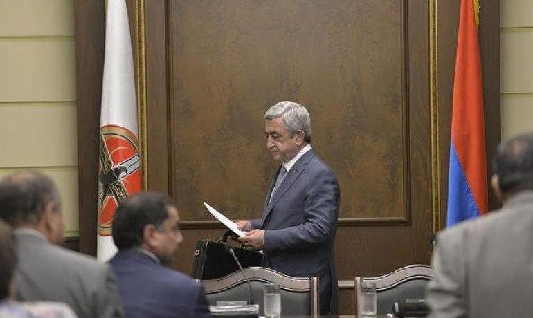 Серж Саргсян провел очередное заседание Исполнительного органа РПА