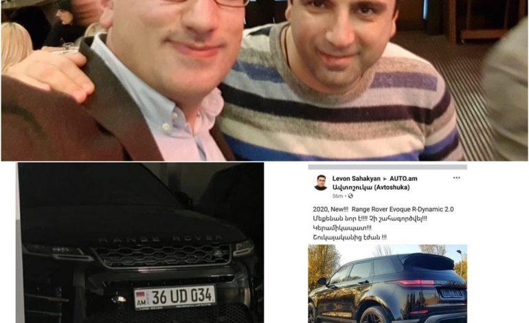 Ալեն Սիմոնյանը 56.000 ԱՄՆ դոլարով վաճառում է ավտոսրահից ամիսներ առաջ գնած իր Range Rover-ը