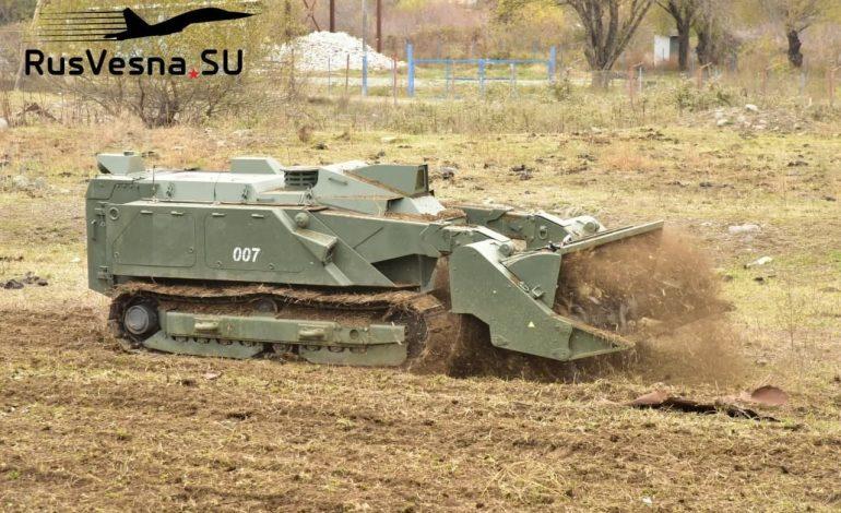 Ռուս խաղաղապահները հատուկ ռոբոտներ են բերել Արցախ