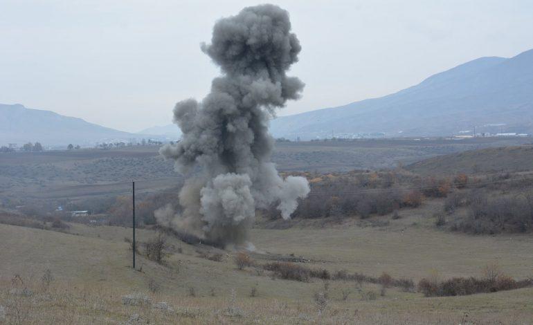 Ղարաբաղում ռուս զինվորականներին տեղափոխող բեռնատարը պայթել է ականի վրա