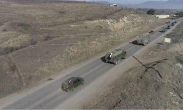Представителями российского миротворческого контингента обеспечено сопровождение двух колонн строительной техники Азербайджанской Республики