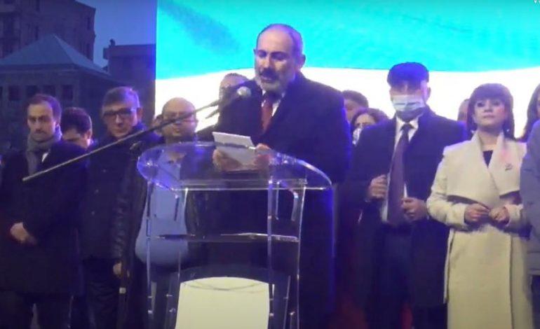 Արմեն Սարգսյանը վատառողջ է. Փաշինյանը հանրահավաքի ժամանակ Արմեն Սարգսյանին շուտափույթ ապաքինում մաղթեց