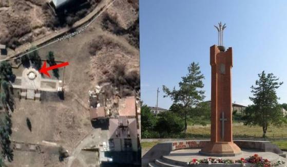ՖՈՏՈ. Ադրբեջանցիները Շուշիիում ևս մեկ հայկական հուշարձան են ոչնչացրել
