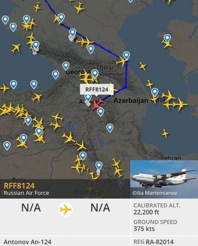 ՖՈՏՈ. Գերիներին բերելու համար Բաքու մեկնող ինքնաթիռը օդի մեջ է փոխել երթուղին ու շարժվել Երևան