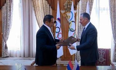 ՏԵՍԱՆՅՈՒԹ. Ծառուկյանը գործակցության հուշագիր է ստորագրել ՌԴ օլիմպիական կոմիտեի նախագահ Ս. Պոզնյակովի հետ