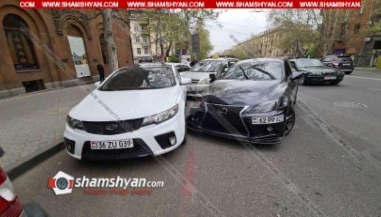 Շղթայական վթար Երևանում. մեքենաներից մեկը պատկանում է լեգենդար ֆուտբոլիստի, կան տուժածներ