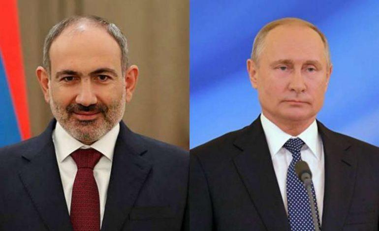 Президент РФ Владимир Путин поздравил Никола Пашиняна с назначением на пост премьер-министра РА