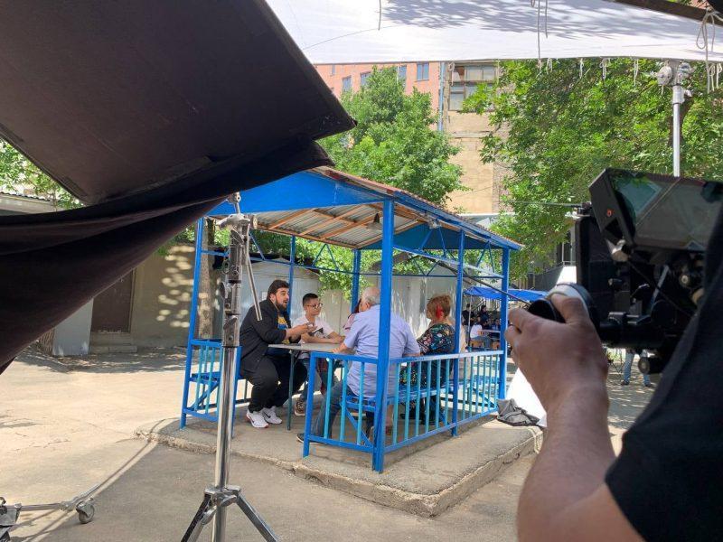 ՖՈՏՈ. Այսօր սկսվել են «Մեր բակը 25 տարի անց» ֆիլմի նկարահանումները