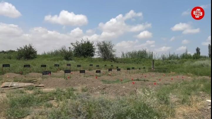 ՖՈՏՈ. Ադրբեջանում Արցախյան պատերազմում զոհված զինծառայողների անանուն գերեզմաններ են հայտնաբերել