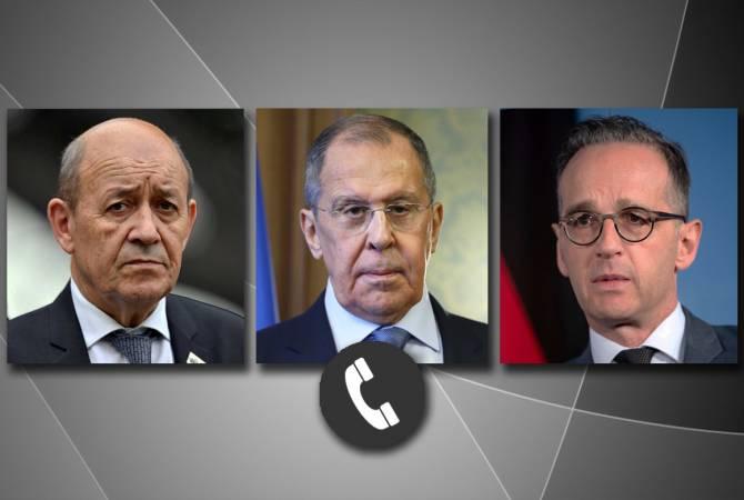 ՌԴ-ի, Ֆրանսիայի ու Գերմանիայի ԱԳ նախարարները քննարկել են հայ-ադրբեջանական սահմանին իրավիճակը և ԼՂ հարցը