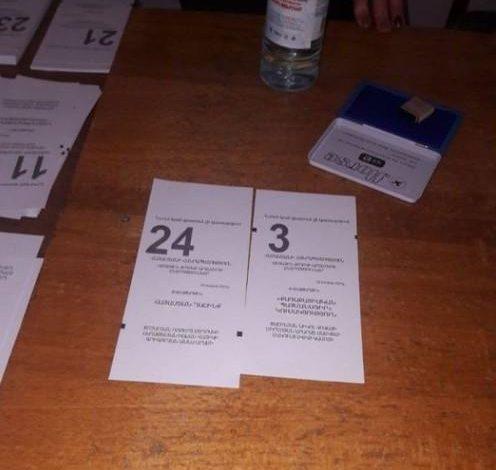 «Հայաստան» դաշինքի  քվեաթերթիկը մյուսներից երկար է, ծրարի մեջ չի մտնում