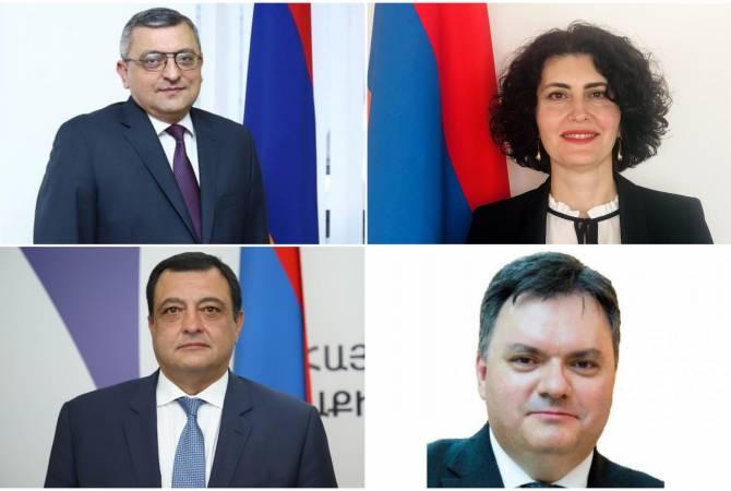 Назначены новые послы Армении в Египте, Туркменистане, на Кубе и в Колумбии