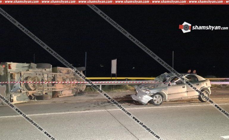ՖՈՏՈ. Խոշոր ու ողբերգական ավտովթար՝ Արարատի մարզում. ՀՀ ՊՆ 27-ամյա ծառայողը՝ ոչ սթափ, Opel-ով բախվել է ՀՀ ՊՆ ավտոմեքենային. կա 1 զոհ, 4 վիրավոր