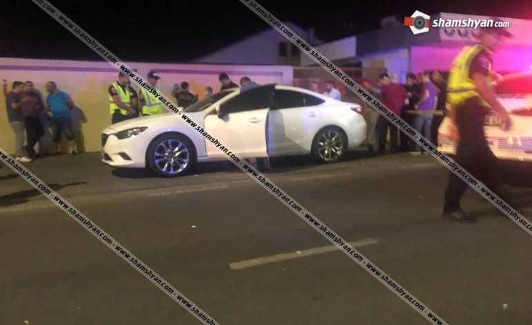 ՖՈՏՈ. Արտակարգ դեպք՝ Երևանում. Mazda մակնիշի ավտոմեքենայում հայտնաբերվել է հրազենային վնասվածքով տղամարդու դի