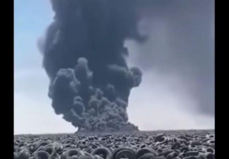 ՏԵՍԱՆՅՈՒԹ․ Քուվեյթում այրվում է անվադողերի` աշխարհում ամենամեծ աղբավայրը
