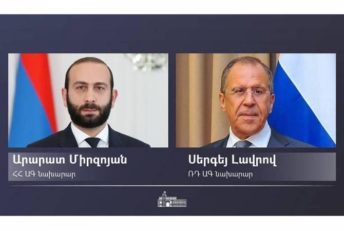 Сергей Лавров поздравил Арарата Мирзояна с назначением и пригласил в Москву