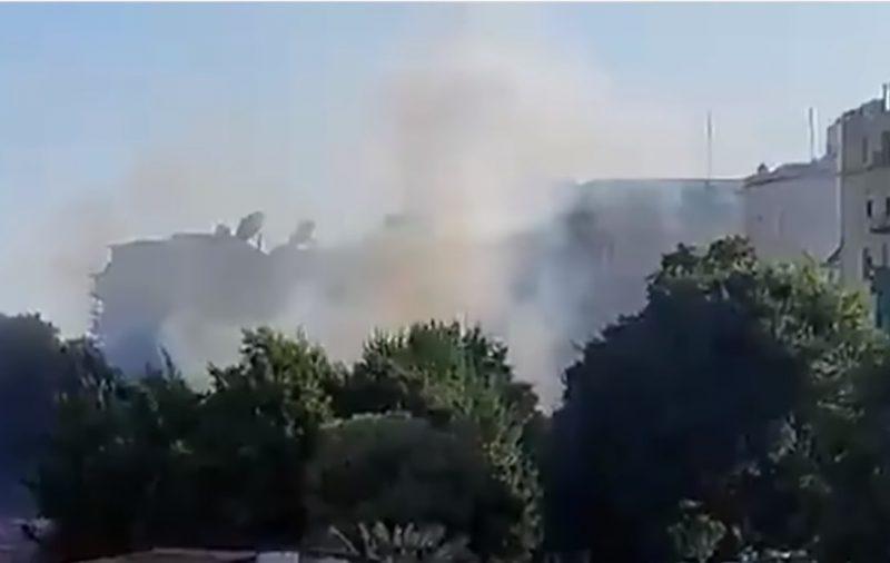 ВИДЕО: Горит Российское консульство в Стамбуле, Турция