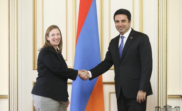 Առաջնային է մնում Ադրբեջանում պահվող հայ ռազմագերիների եւ քաղաքացիական անձանց անհապաղ հայրենադարձման հարցը. Ալեն Սիմոնյանն ընդունել է Հայաստանում ԱՄՆ դեսպանին