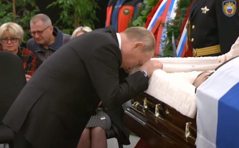 ВИДЕО: Владимир Путин приехал проститься с Евгением Зиничевым