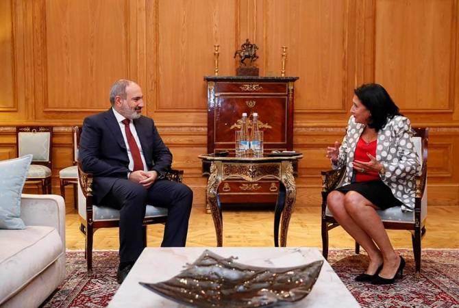 Никол Пашинян встретился с президентом Грузии Саломе Зурабишвили