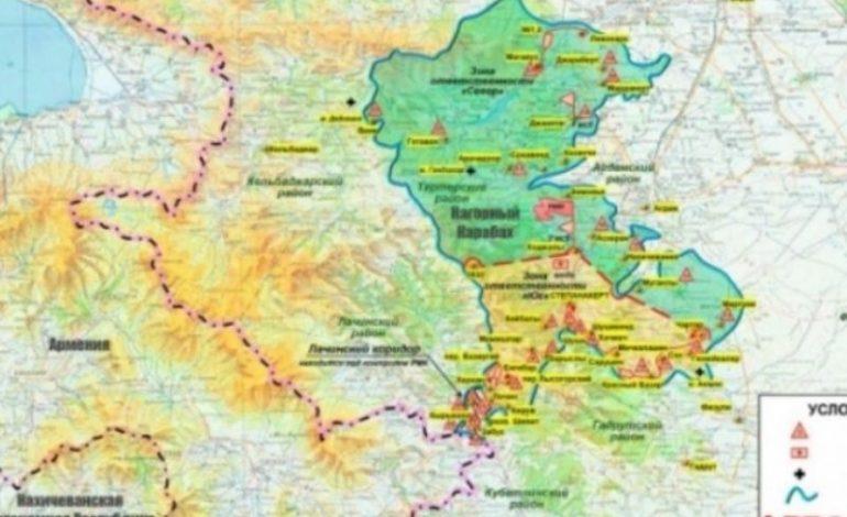 ՔԱՐՏԵԶՆԵՐ. «Ռուսական խաղաղապահների հրապարակվող քարտեզներում հանվել են ԼՂԻՄ սահմանները». Արթուր Ղազարյան