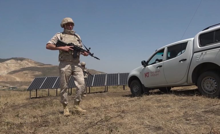 Российские миротворцы обеспечили безопасность работ по восстановлению мобильной связи и сети Интернет в отдаленных районах Нагорного Карабаха