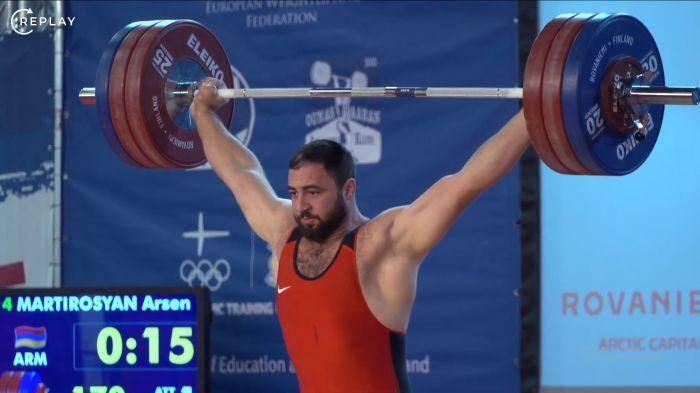 Арсен Мартиросян завоевал золото на Чемпионате Европы по тяжелой атлетике U23