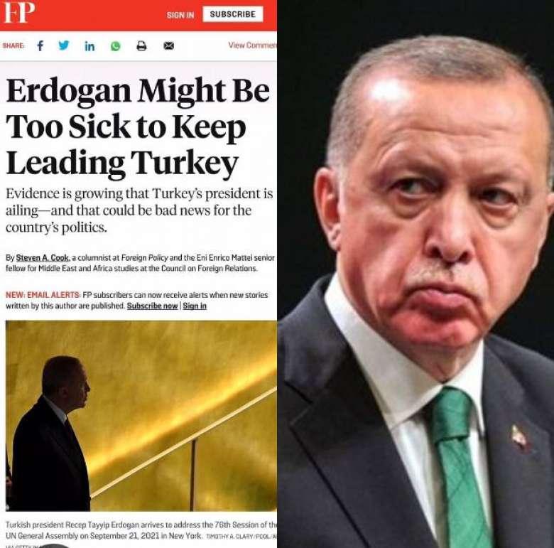 ՖՈՏՈ․ Թուրքիայի նախագահ Ռեջեփ Թայիփ Էրդողանի մոտ քաղցկեղ է ախտորոշվել, ինչի հետևանքով կարող է չվերընտրվել. Foreign Policy