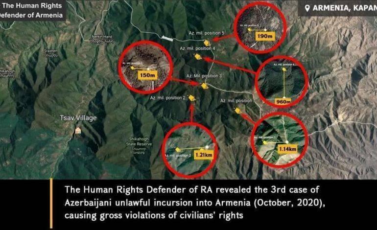 Защитник прав человека Аремнии установил 3-й случай незаконного азербаийджанского вторжения (октябрь, 2020 г.) с грубыми нарушениями прав гражданских жителей в Капане