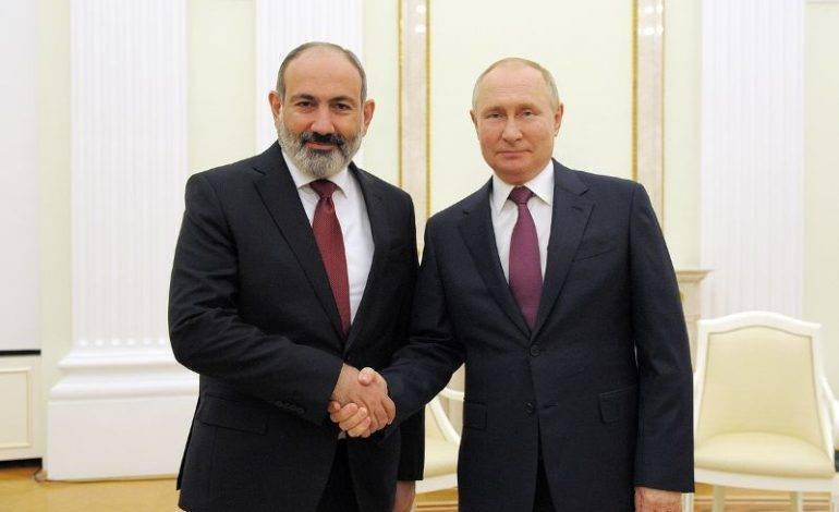 Пашинян назвал встречу с Путиным в Москве весьма продуктивной
