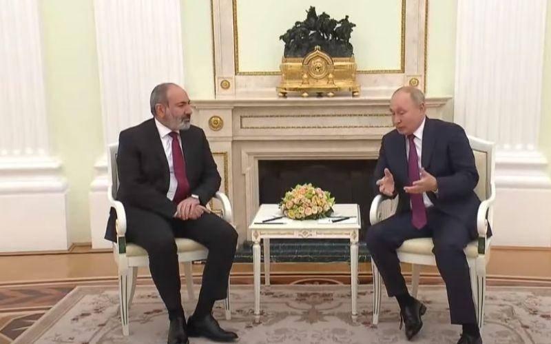 ВИДЕО: Путин и Пашинян проводят переговоры в Москве