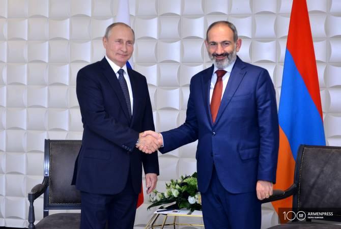 Песков рассказал, что переговоры Путина и Пашиняна предполагают беседу и рабочий обед